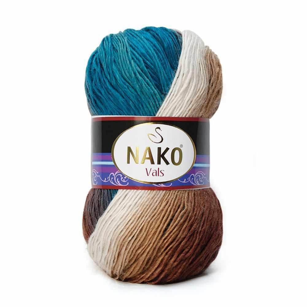 Пряжа Nako Vals Цвет.86844 бел.беж.кор.гол.
