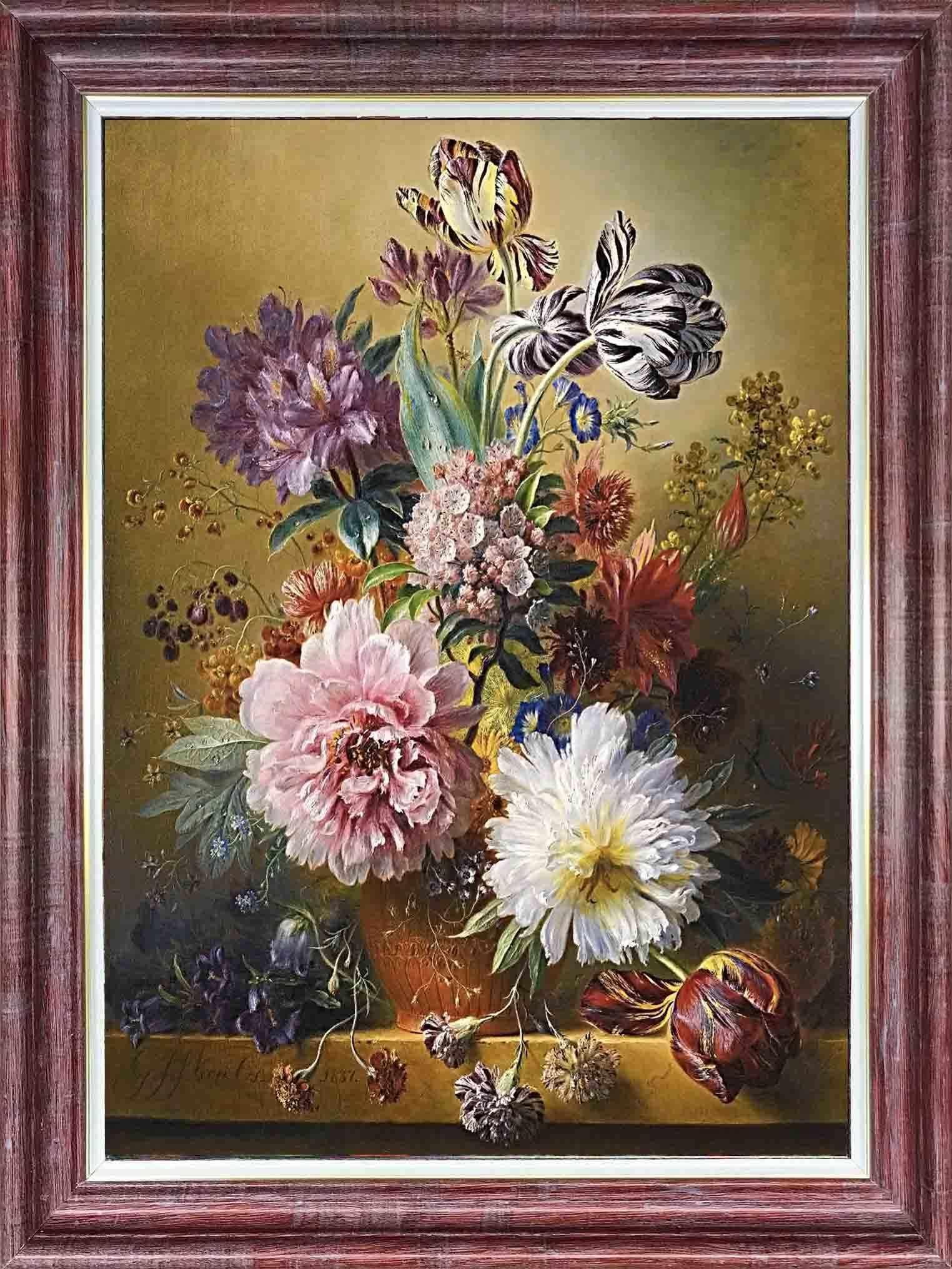 КЛ 3048 Вальс цветов - схема (Каролинка)