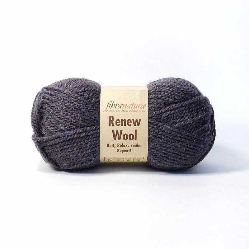 Пряжа Fibra Natura Renew Wool Цвет.108 кофе