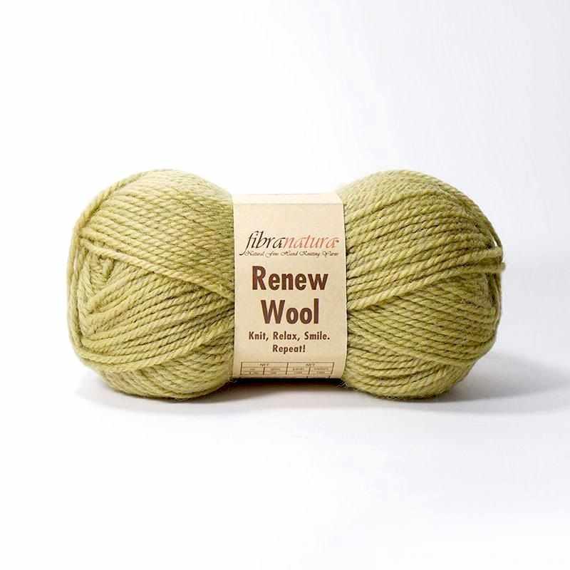 Пряжа Fibra Natura Renew Wool Цвет.105 салат