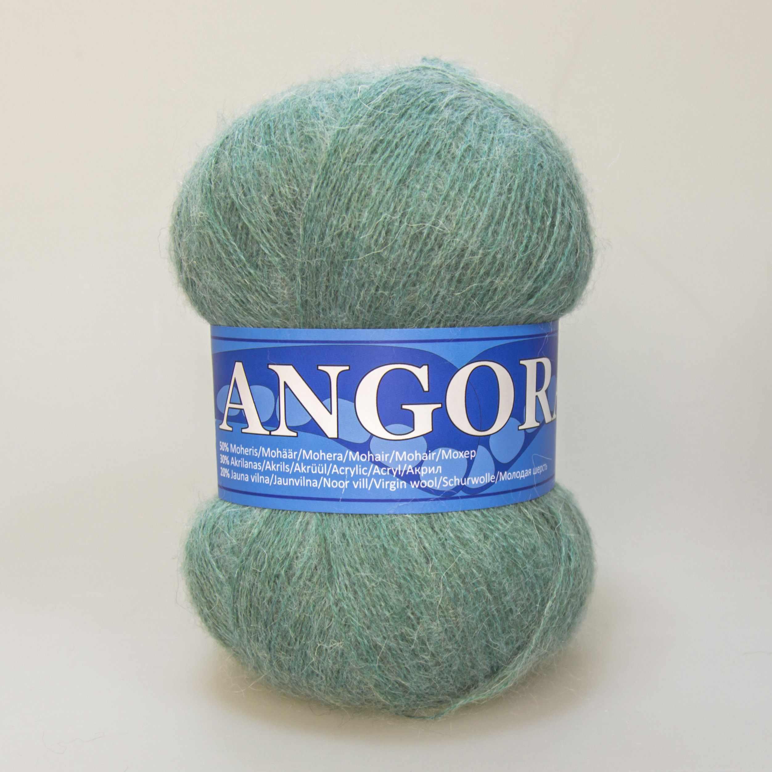Пряжа Midara Angora 2 Цвет. 435 зел.ментол
