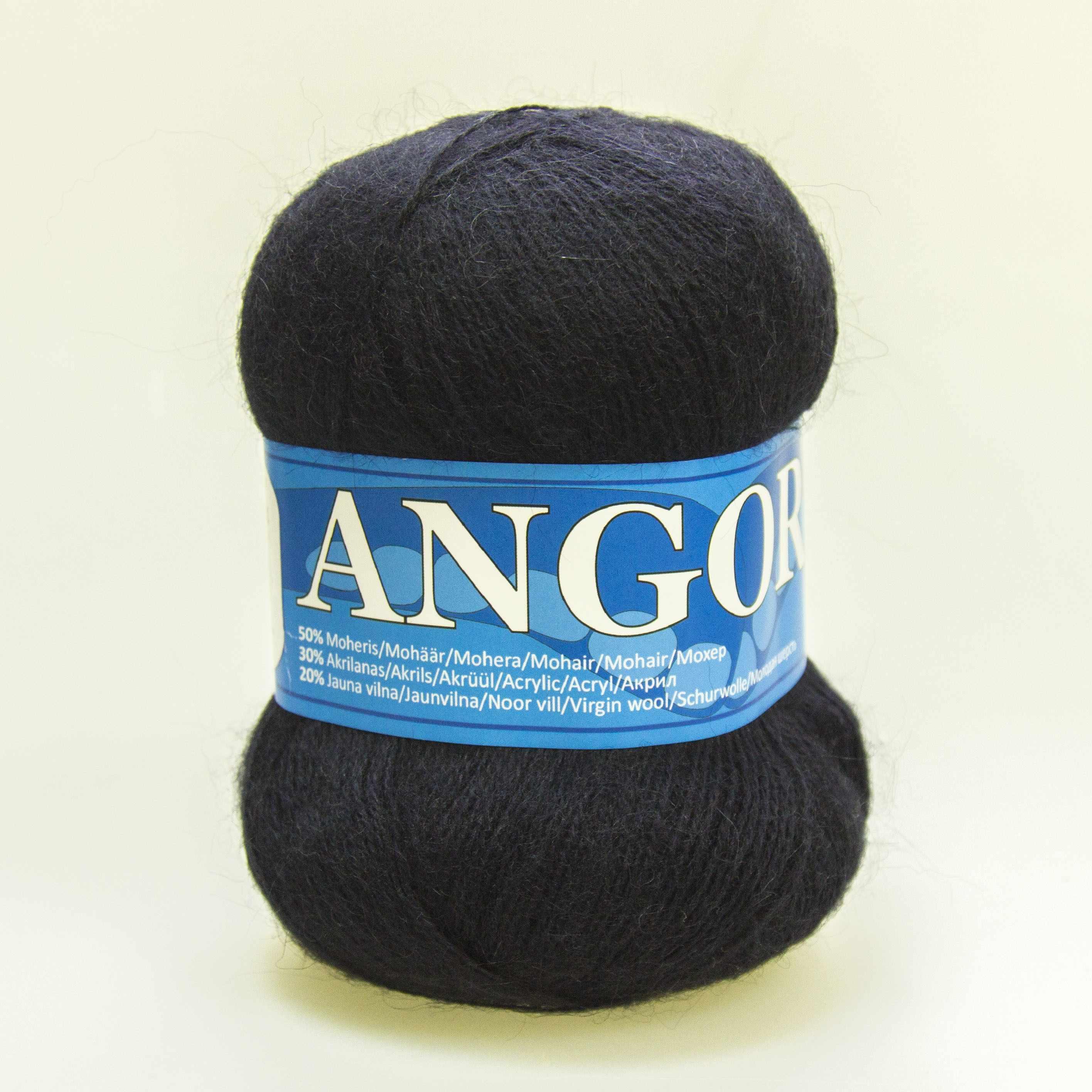 Пряжа Midara Angora 2 Цвет. 941 черно-синий