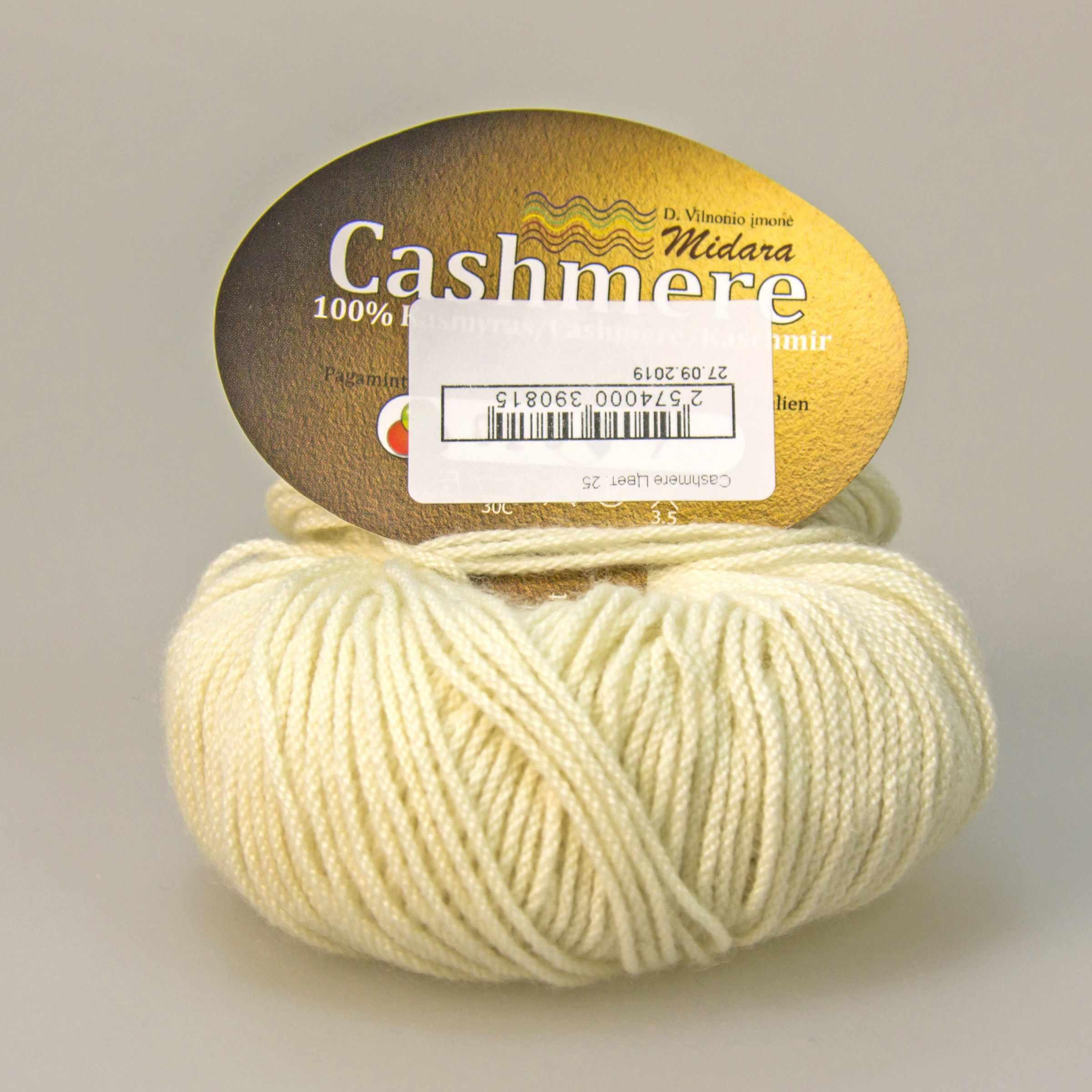 Пряжа Midara Cashmere Цвет. 25 белый