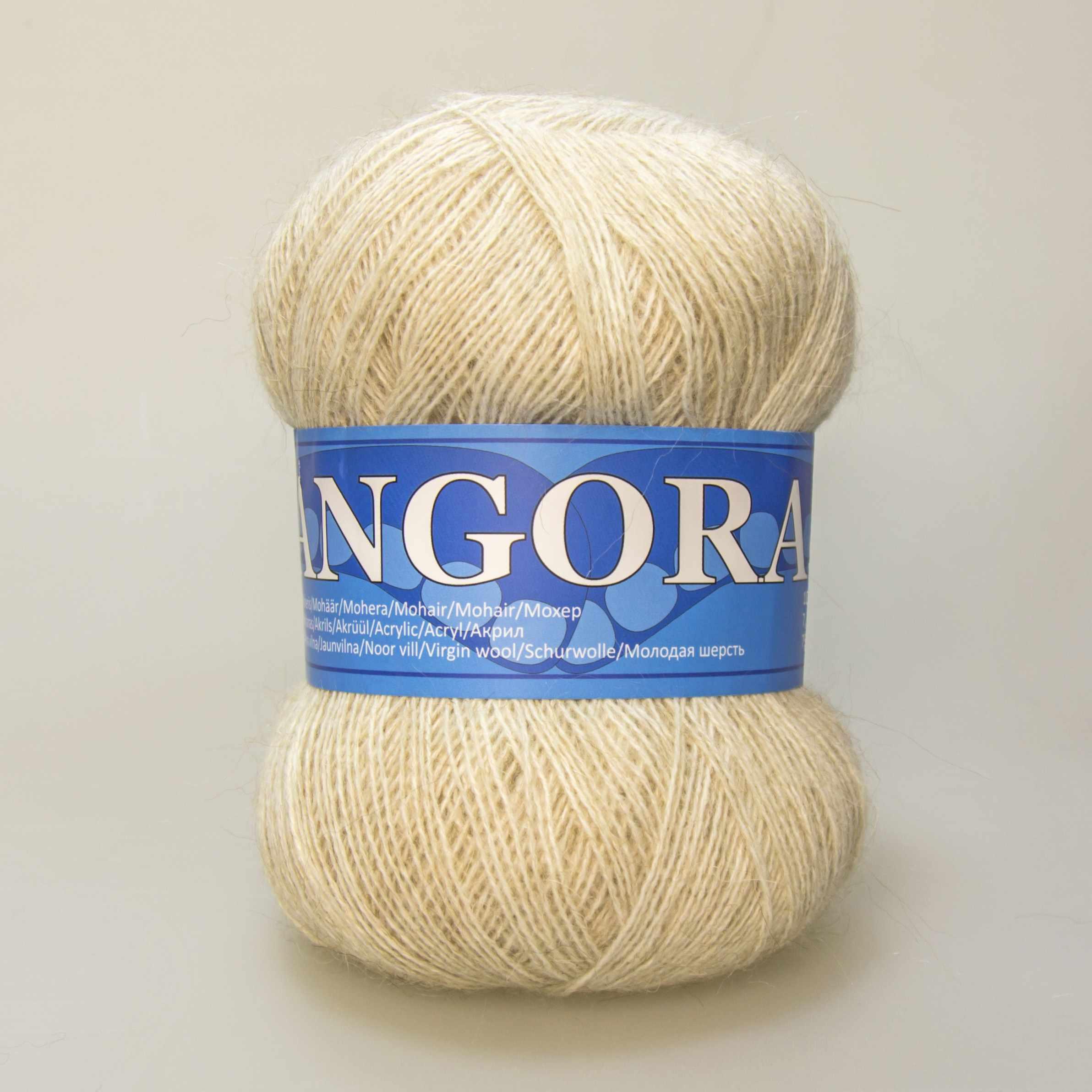 Пряжа Midara Angora 2 Цвет. 883 топл.молоко