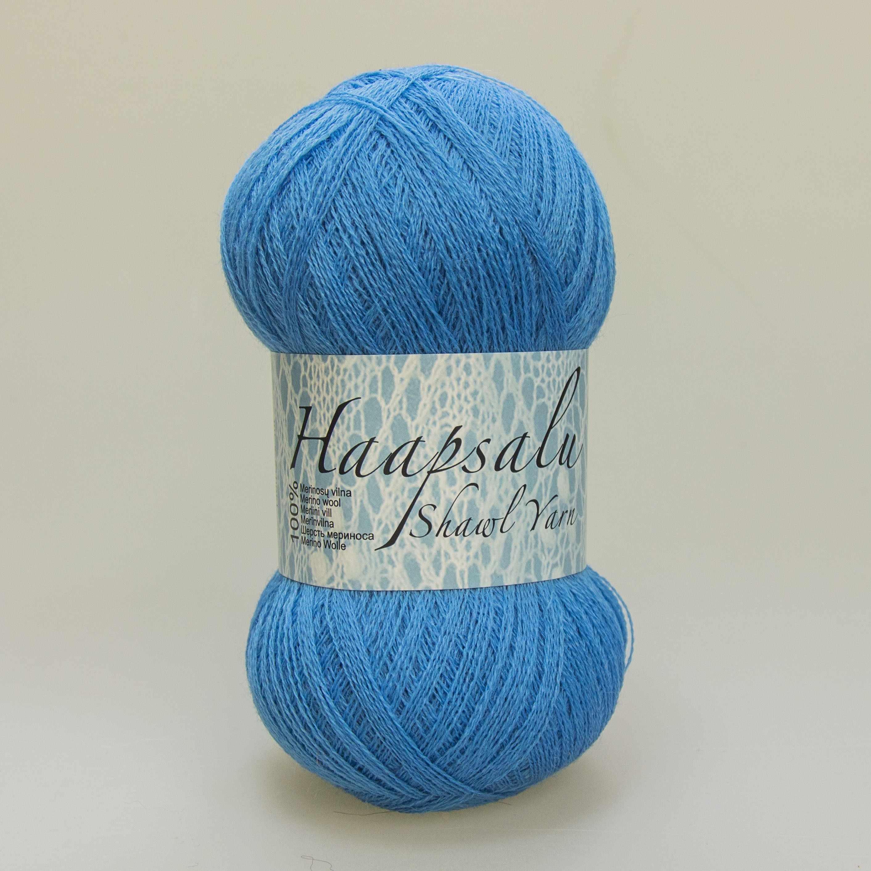 Пряжа Midara Haapsalu Цвет. 500 голубой кобальт