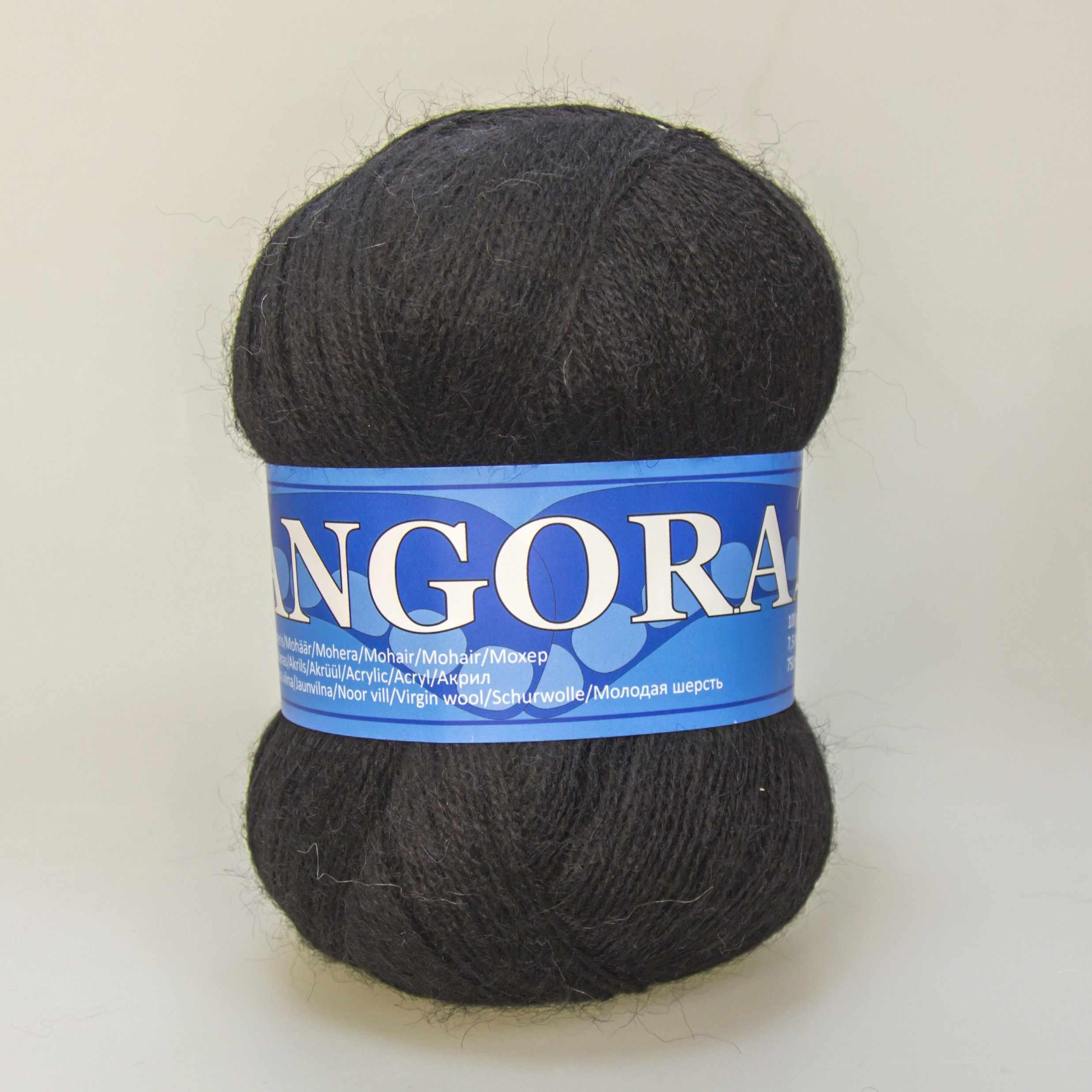 Пряжа Midara Angora 2 Цвет. 940 черный