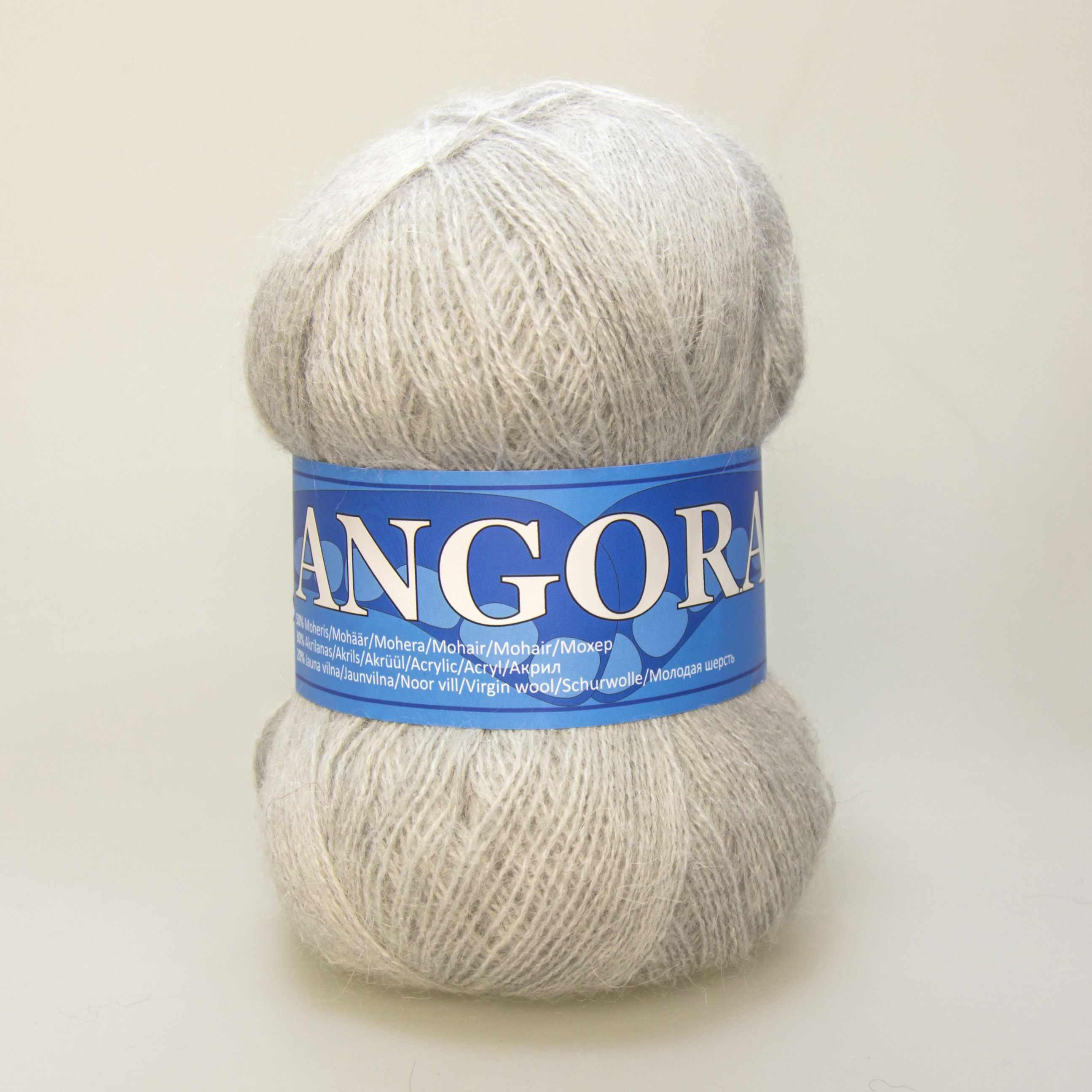 Пряжа Midara Angora 2 Цвет. 923 св.серый