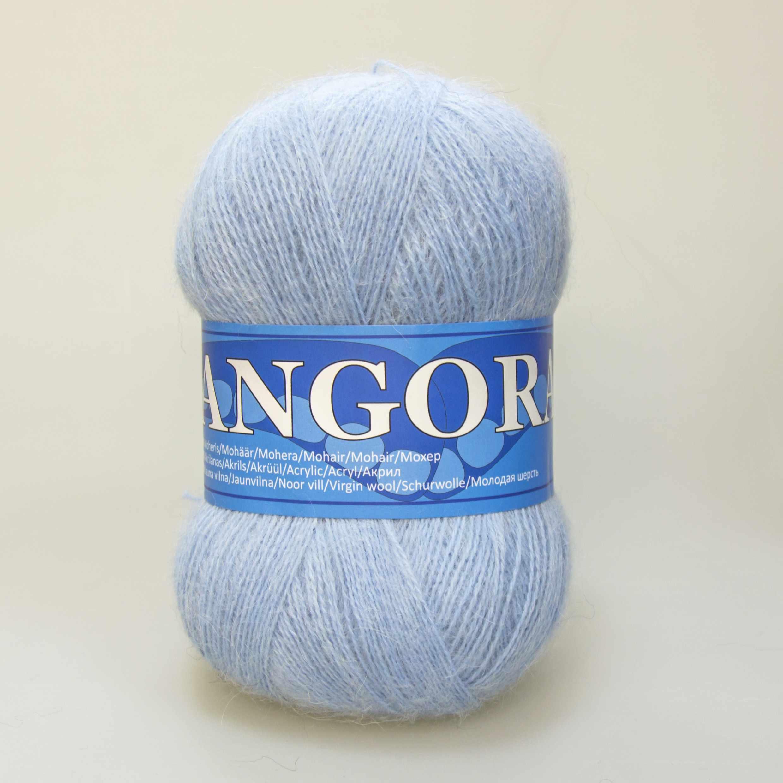 Пряжа Midara Angora 2 Цвет. 540 голубой