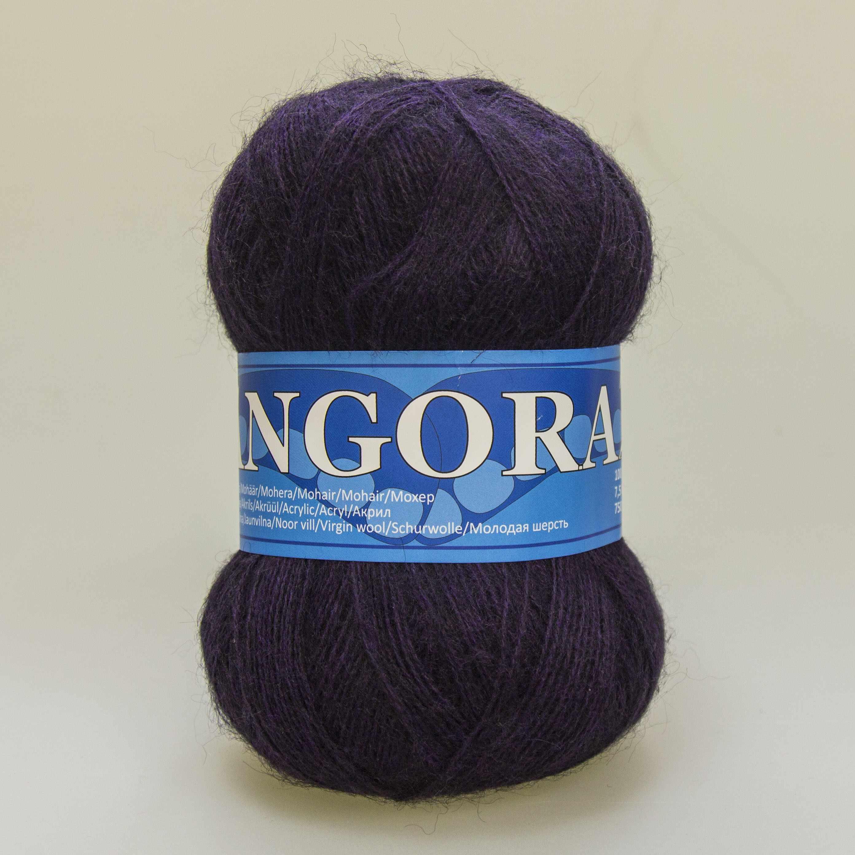 Пряжа Midara Angora 2 Цвет. 723 чернослив