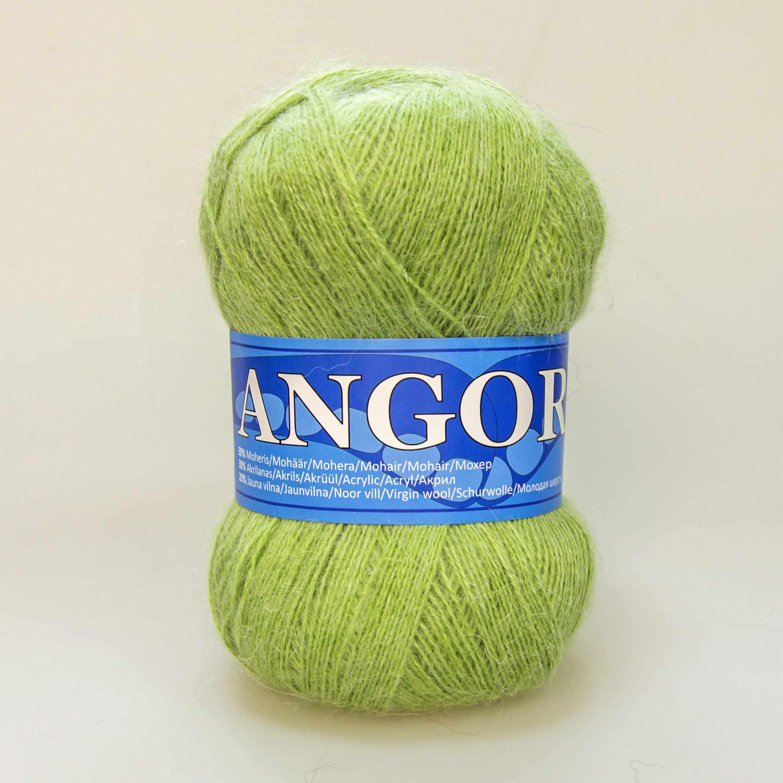 Пряжа Midara Angora 2 Цвет. 118 зел.яблоко