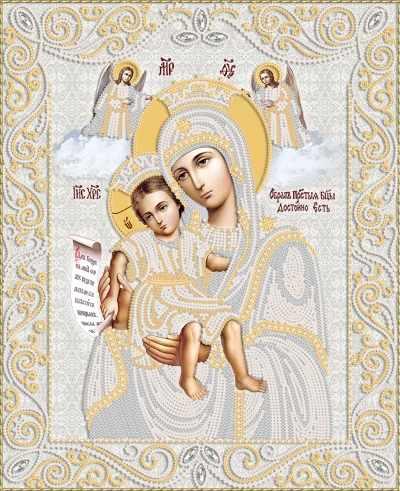 РИК-3-068 Икона Божией Матери - схема (Марiчка)