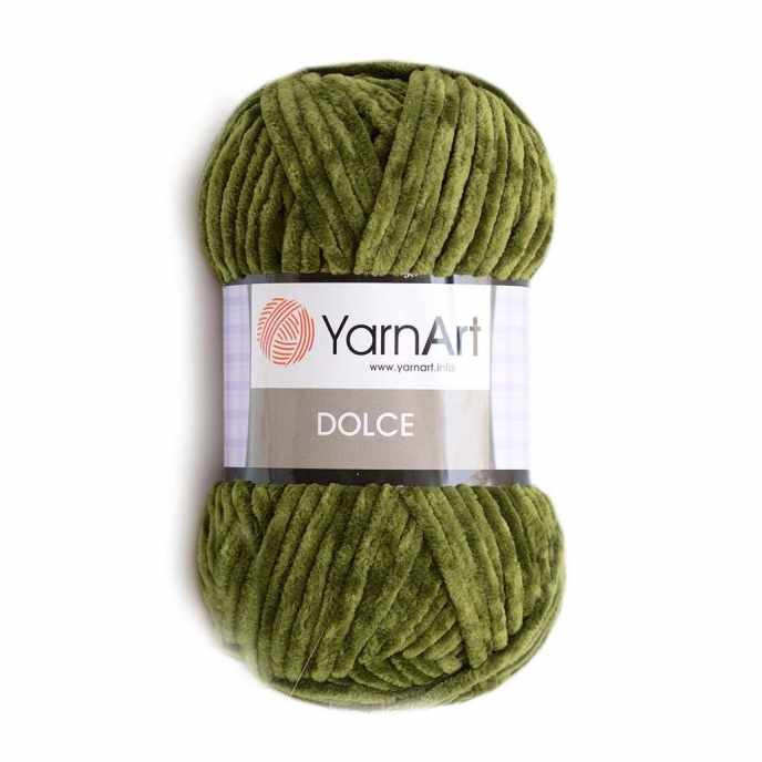 Пряжа YarnArt Dolce Цвет. 772 зел.мох