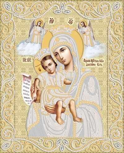 """РИК-3-069 Икона Божией Матери """"Достойно есть"""" - схема (Марiчка)"""