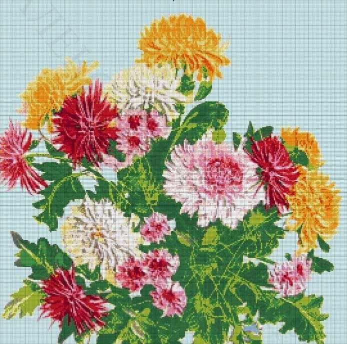 """32-2382-НХ """"Хризантемы"""" - набор для вышивания (А. Токарева)"""