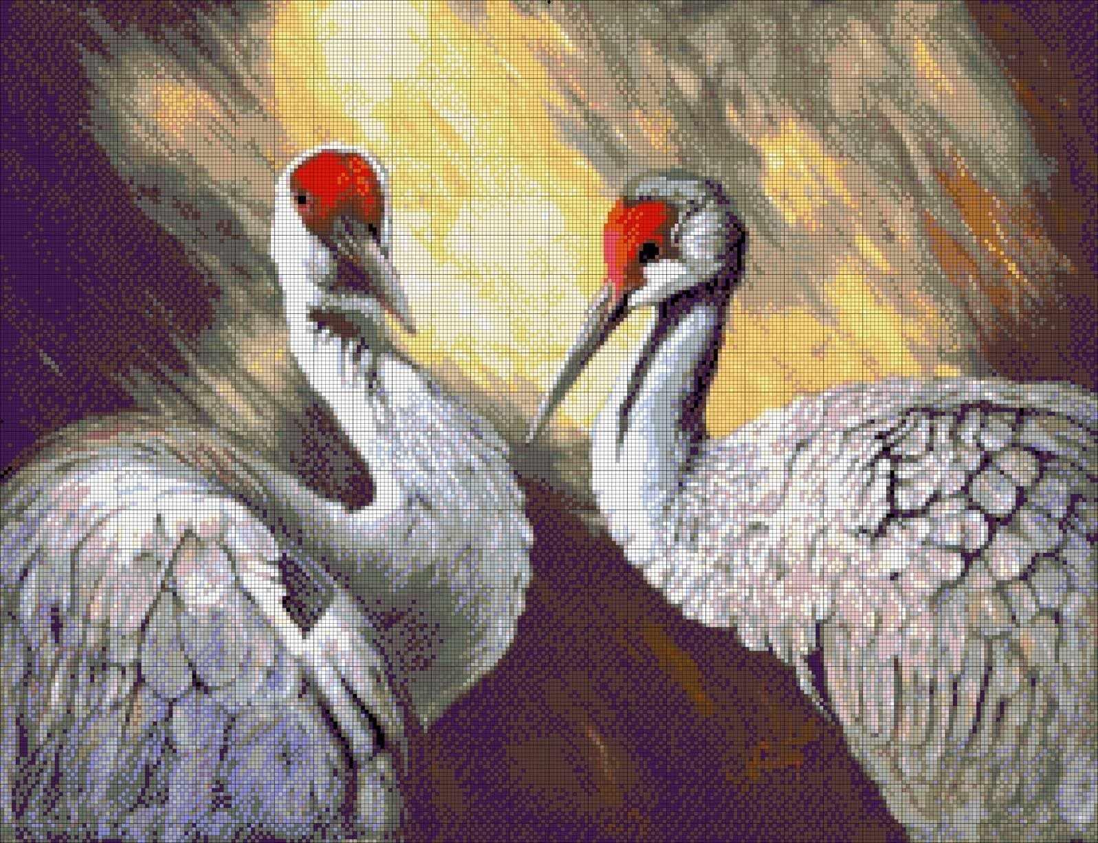 """36-2040-НП """"Пара птиц"""" - набор для вышивания (А. Токарева)"""