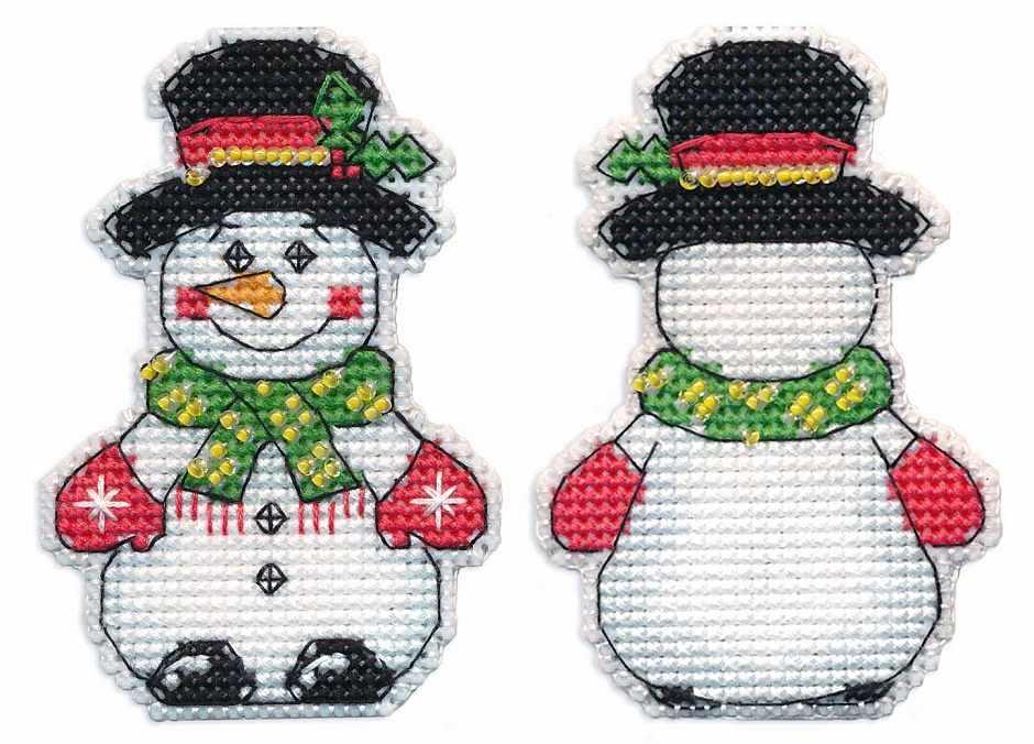 1248 Ёлочная игрушка.Снеговик (Овен)