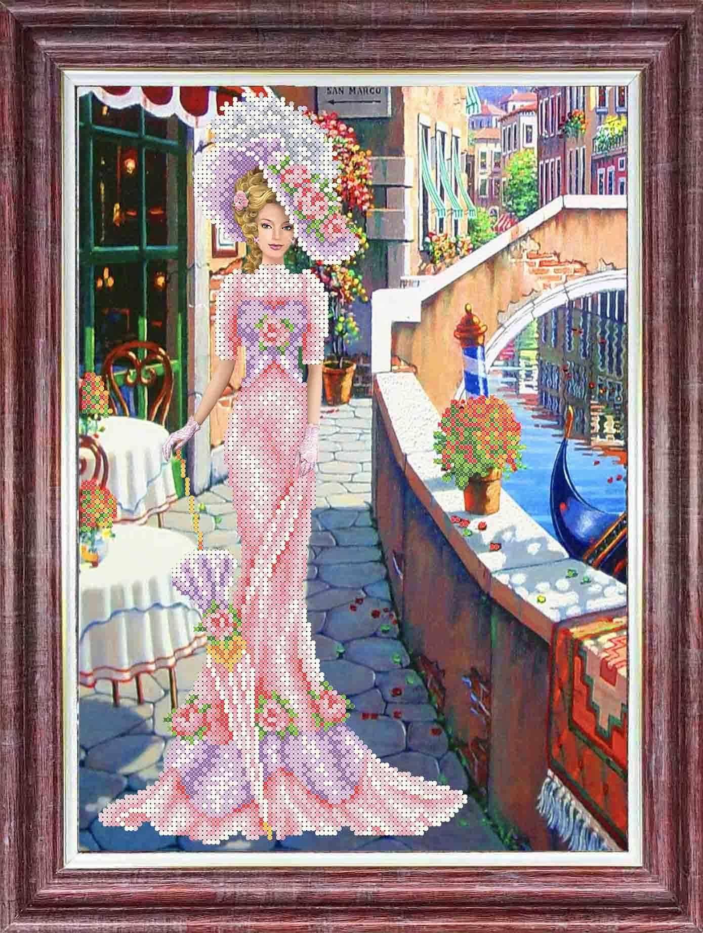 КБЛН(ч) 3014/1 Дама в розовом - набор (Каролинка)