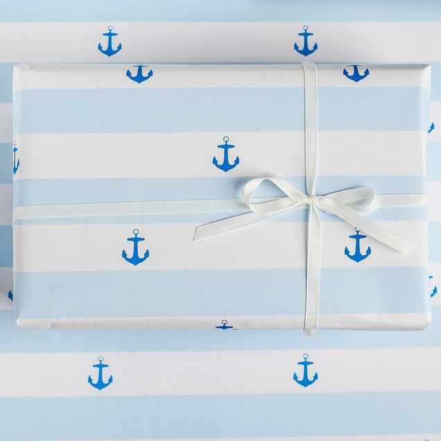 3949126 Бумага упаковочная крафтовая «Море»