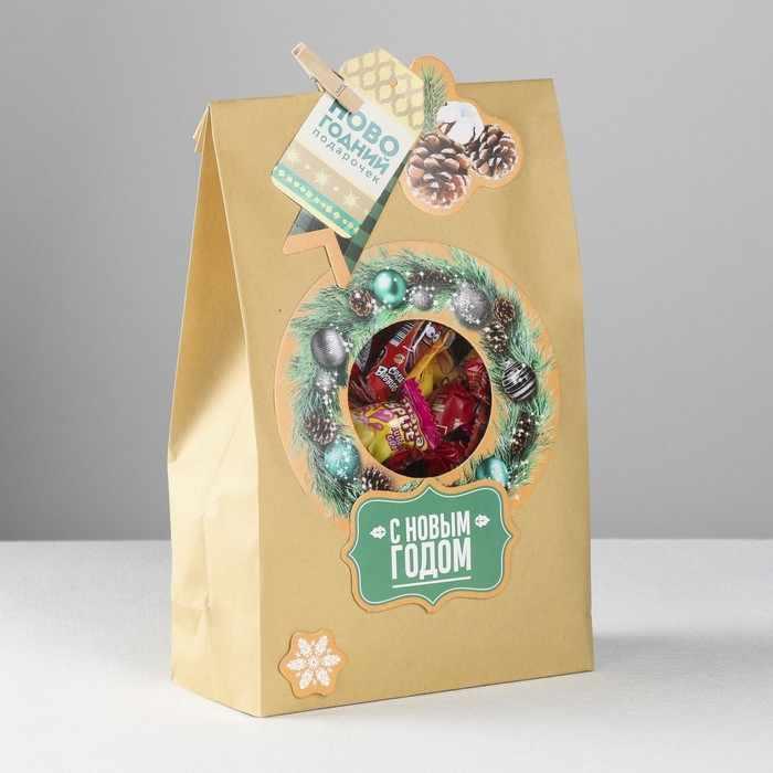 4359191 Пакет подарочный «Новогодний подарочек», набор для создания