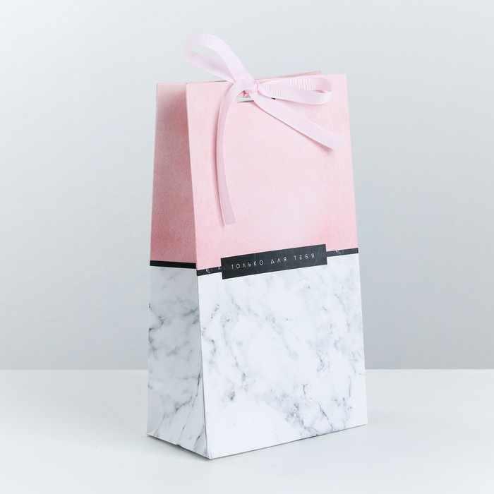 3747861 Пакет подарочный с лентой «Только для тебя»