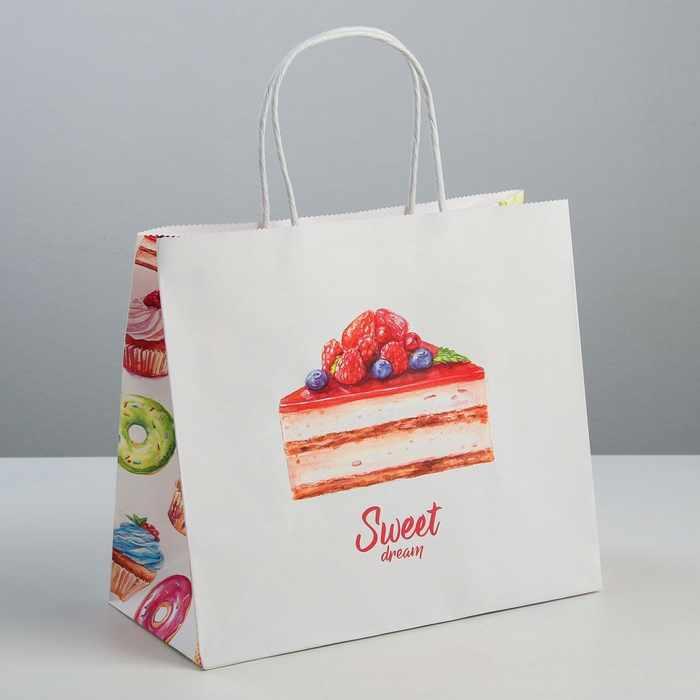 3823496 Пакет подарочный крафт Sweet dream