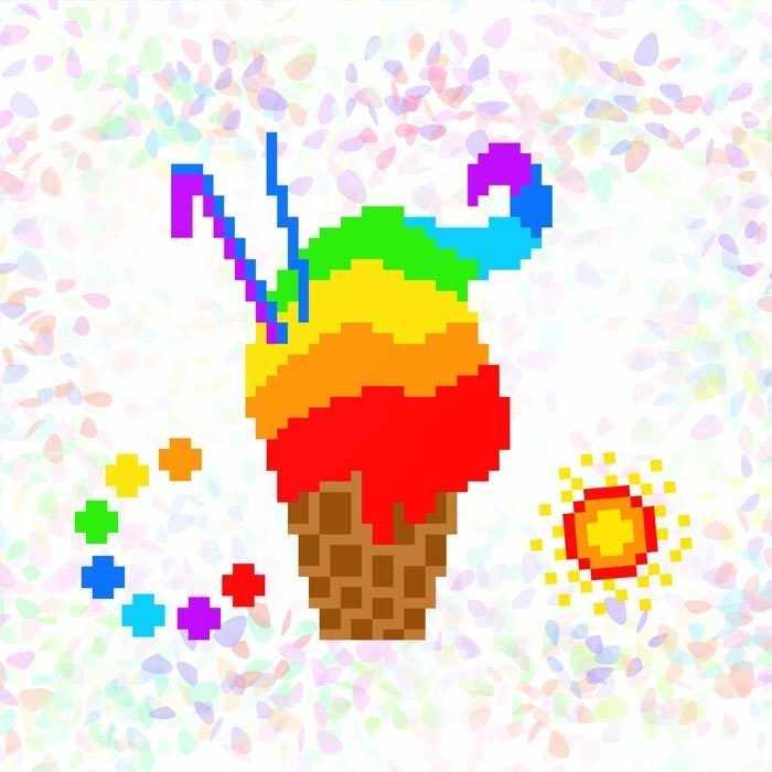 K134 Радужное мороженое