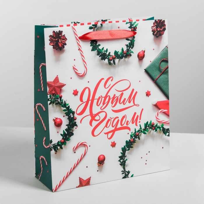 4262273 Пакет подарочный ламинированный вертикальный «С Новым Годом»