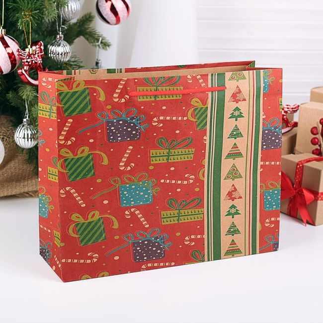 3471314 Пакет крафт «Подарочки»