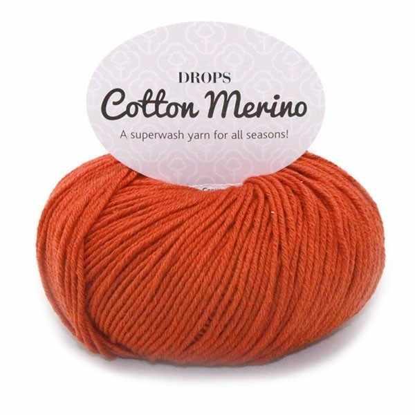 Пряжа DROPS Cotton Merino Цвет.25 Rust