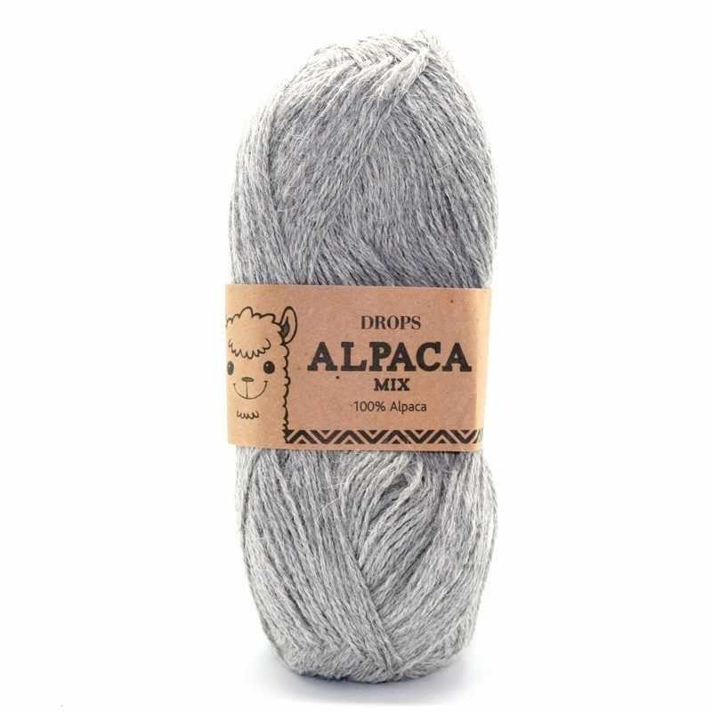 Пряжа DROPS Alpaca Цвет.501m Light grey/сер.мел.