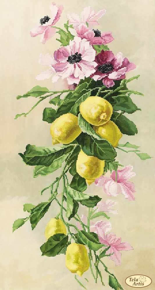 ТК-085 - Букет с лимонами - схема ( Tela Artis )