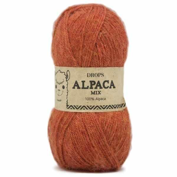 Пряжа DROPS Alpaca Цвет.2925m Rust/терракот