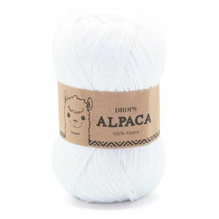 Пряжа DROPS Alpaca Цвет.101 белый