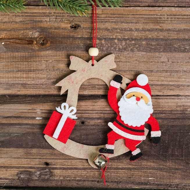 """4243372 Набор для создания подвесной елочной игрушки из фетра """"Дед мороз в танце"""""""