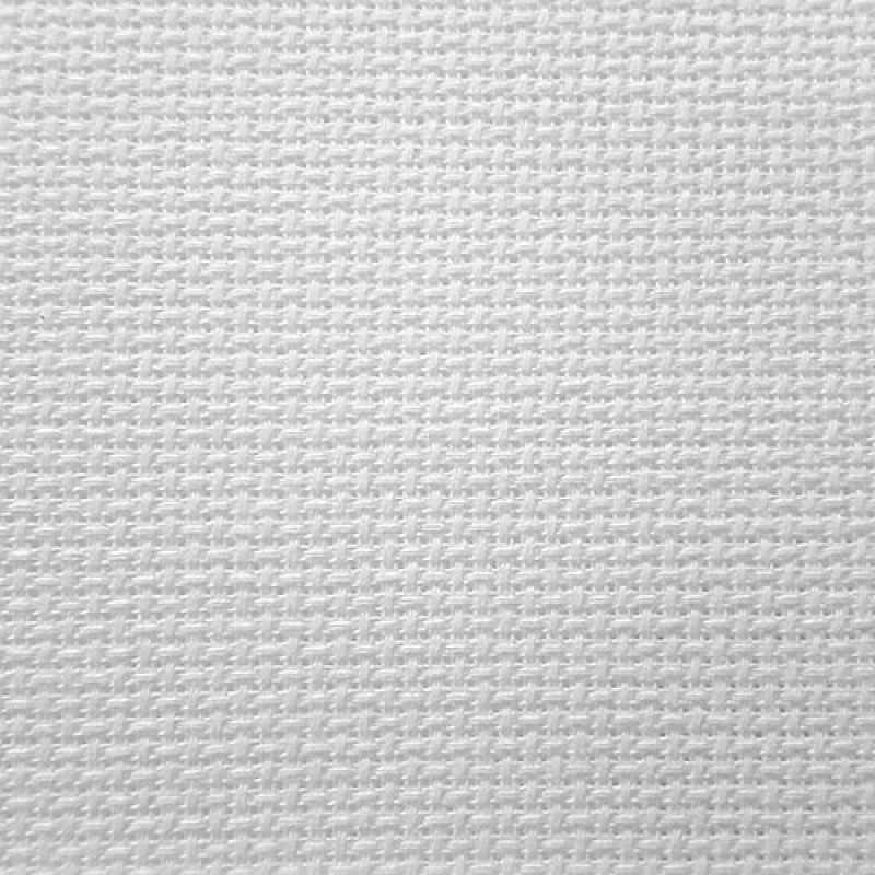 Канва Gamma Канва К18 Аида белая шир. 50*75 см. 18 ct 70/10 кл.