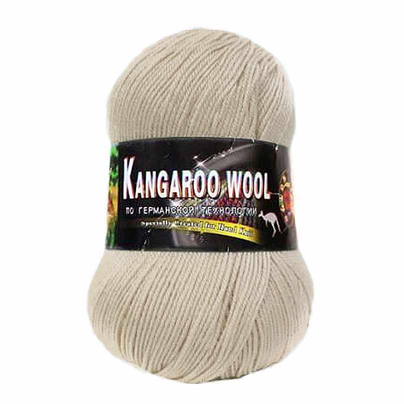 Пряжа  Kangaroo wool Цвет.2502 Песочный