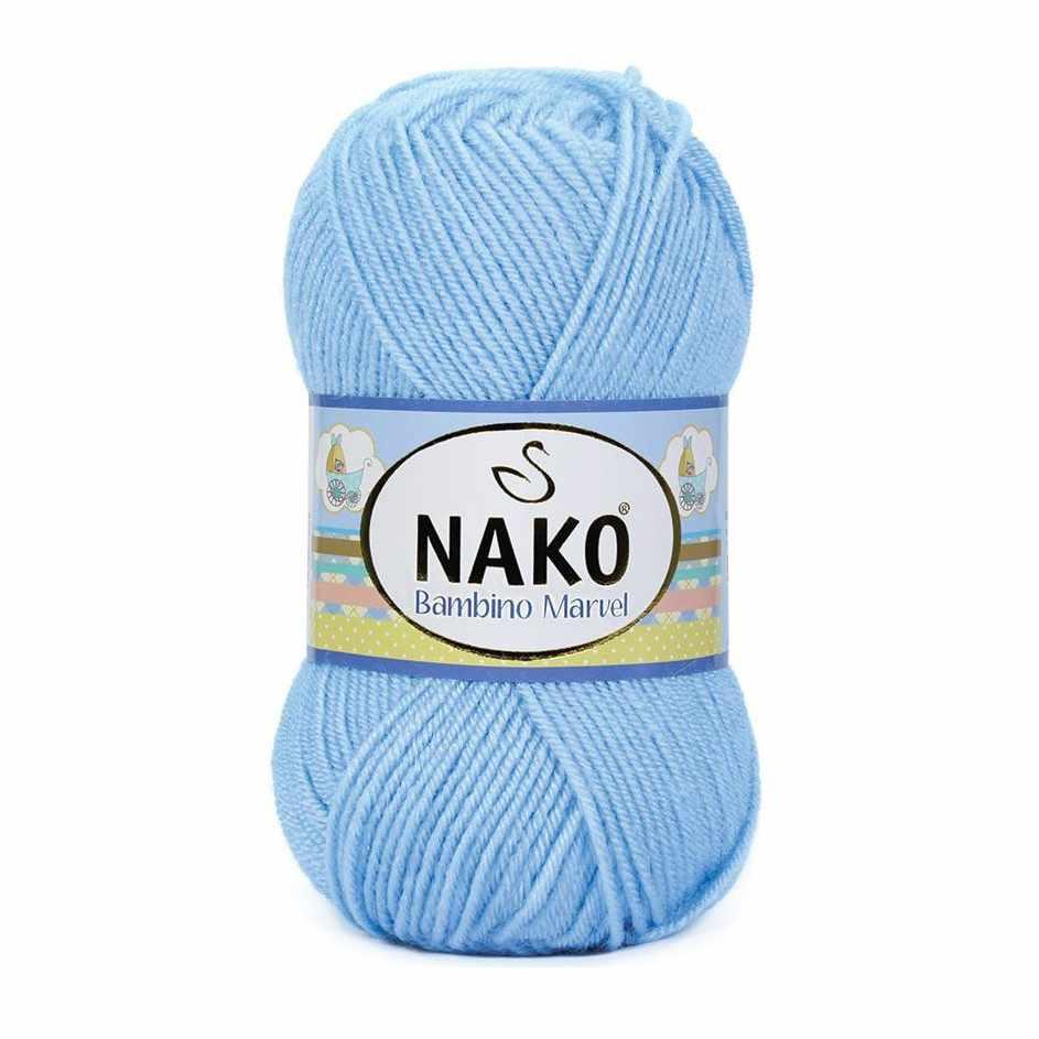 Пряжа Nako Bambino Marvel Цвет.10305 Синий