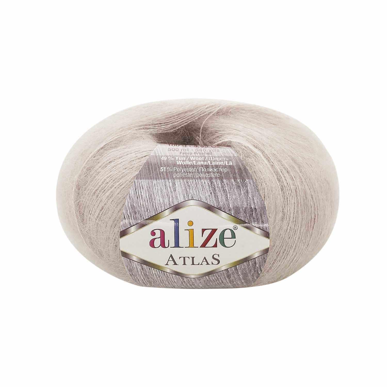 Пряжа Alize Atlas Цвет.62 Молочный
