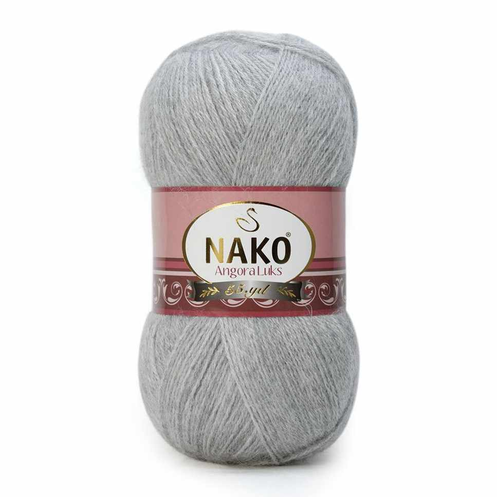 Пряжа Nako Angora Luks Цвет.00195 Серебряный
