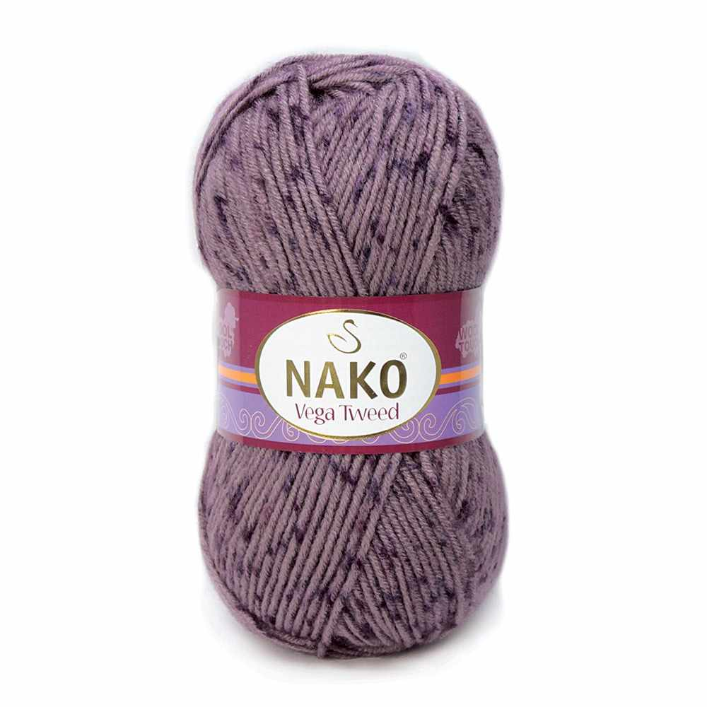 Пряжа Nako Vega Tweed Цвет.31763 Светло сиреневый