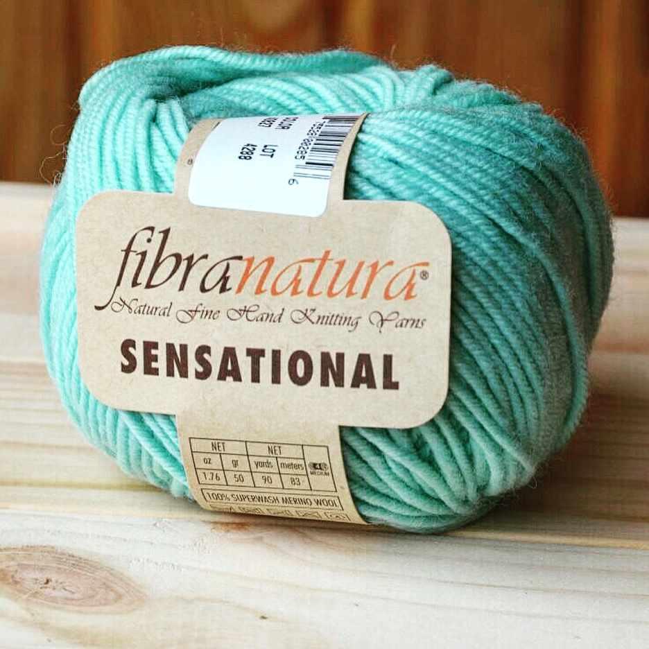 Пряжа Fibra Natura Sensational Цвет.40829 Бирюза