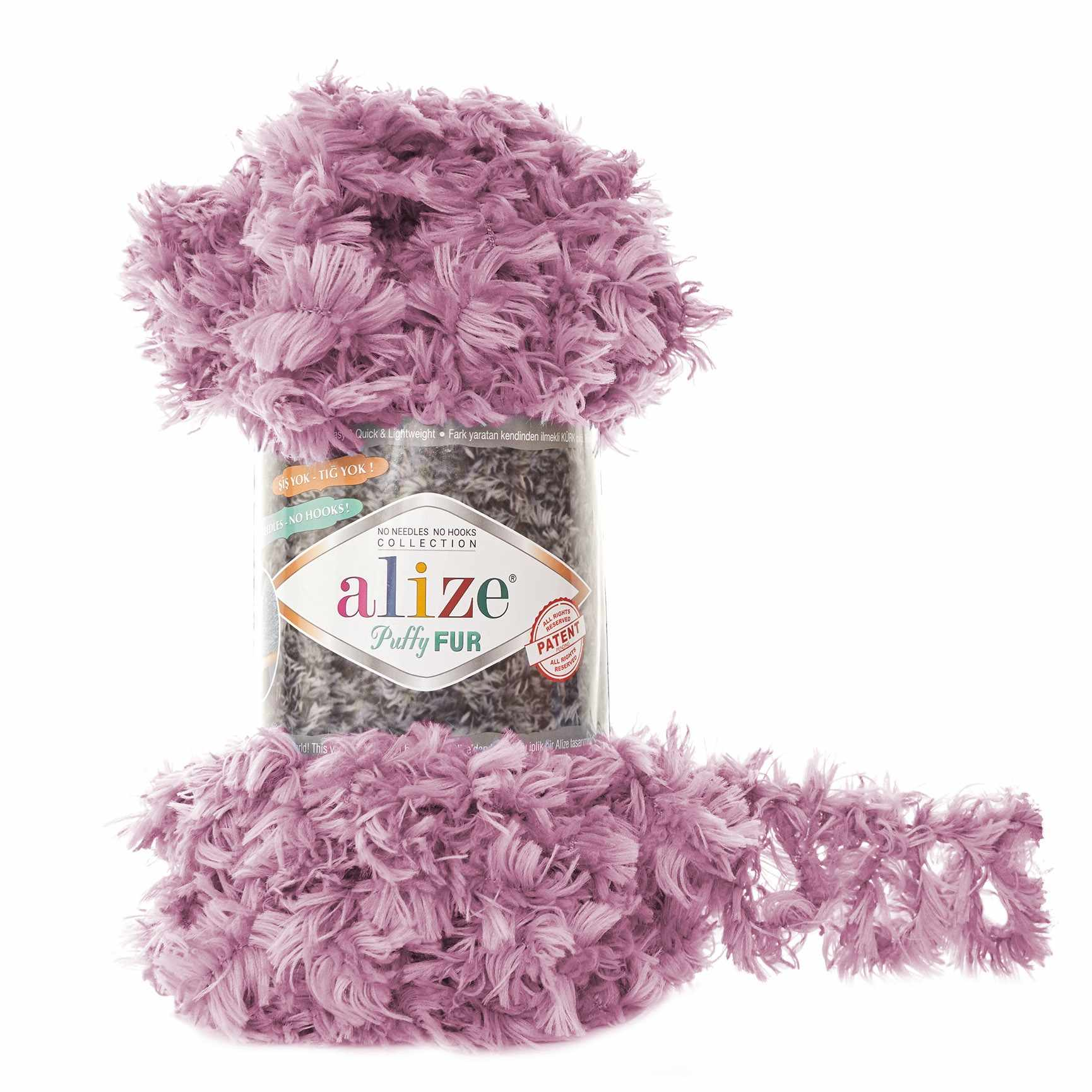 Пряжа Alize Puffy Fur Цвет.6103 Сирень