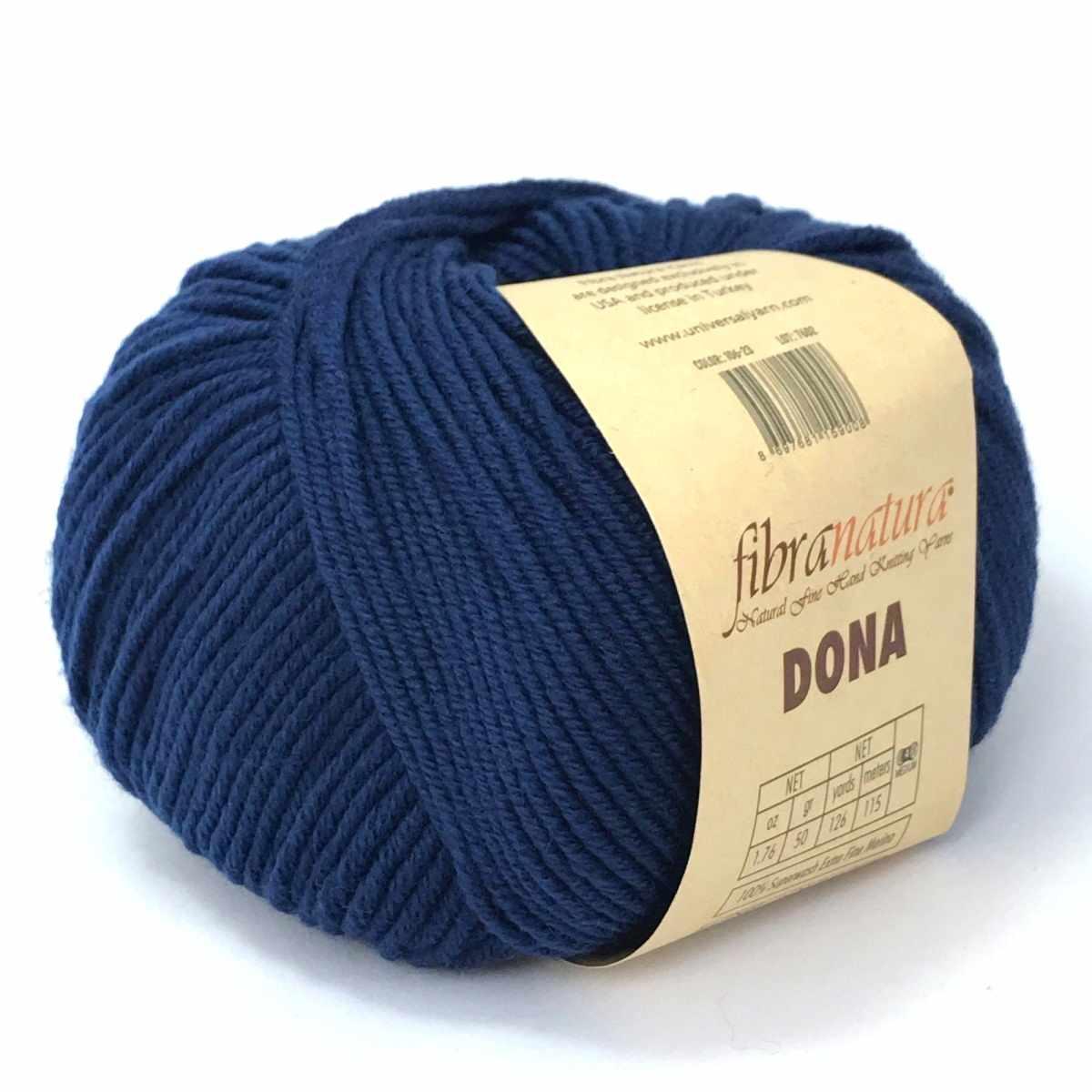 Пряжа Fibra Natura Dona Цвет.10625 Темно синий