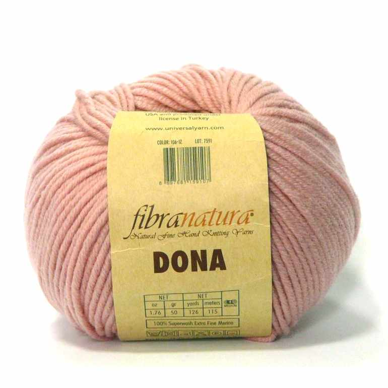 Пряжа Fibra Natura Dona Цвет.10610 Бледно розовый