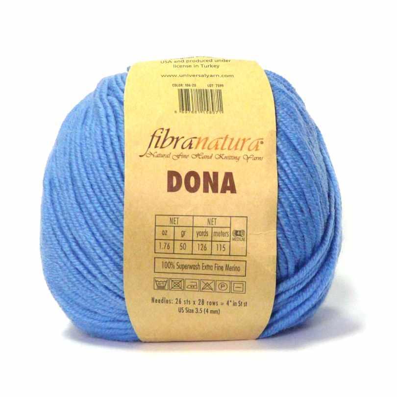 Пряжа Fibra Natura Dona Цвет.10620 Голубой