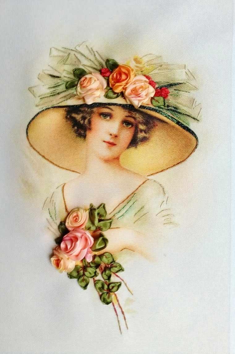 023-100 Девушка с розами