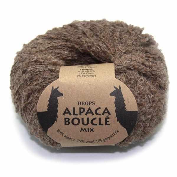 Пряжа DROPS Alpaca Boucle Цвет.0602 Brown