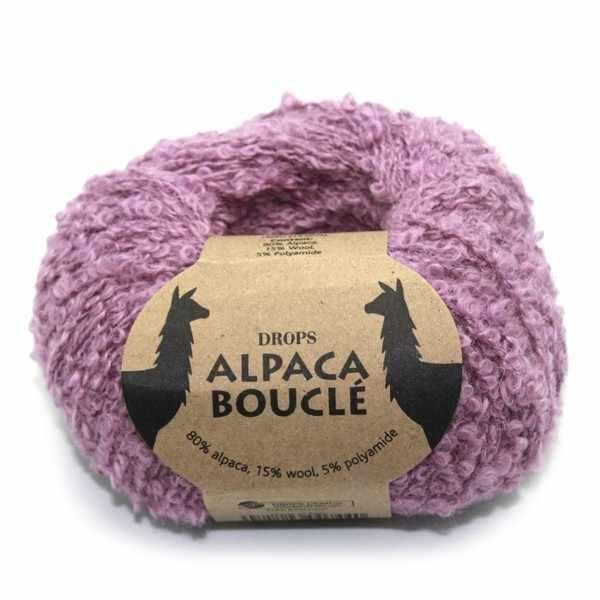 Пряжа DROPS Alpaca Boucle Цвет.3250 Light old pink