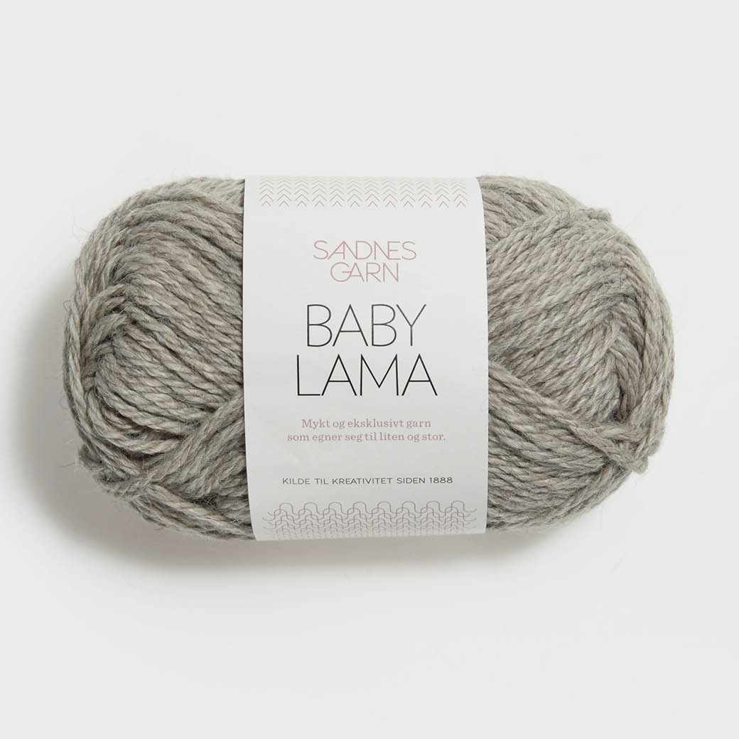 Пряжа SANDNES GARN Baby Lama Цвет.1040 Naturmelertgra