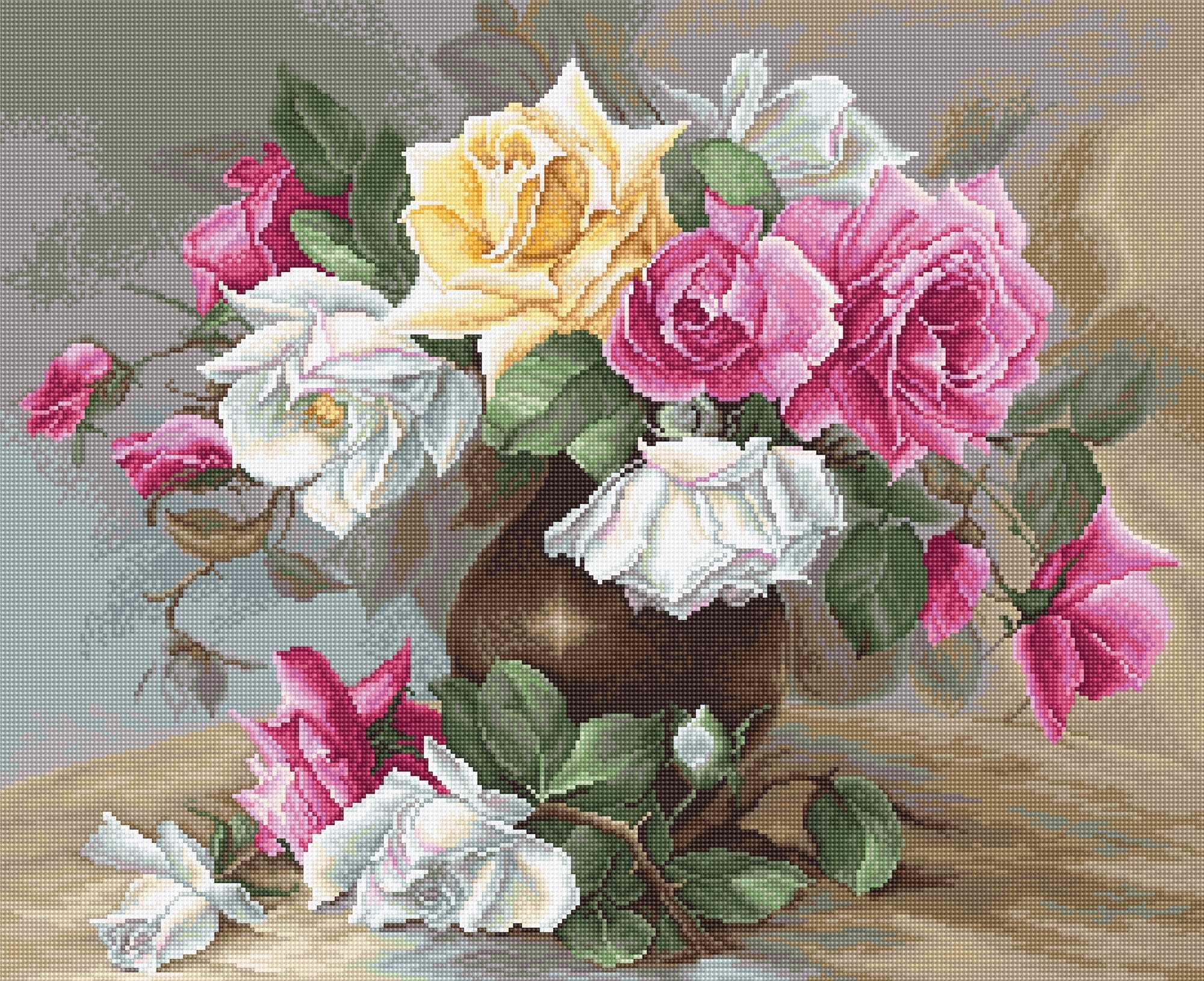 B0587 Ваза с розами (Luca-S)